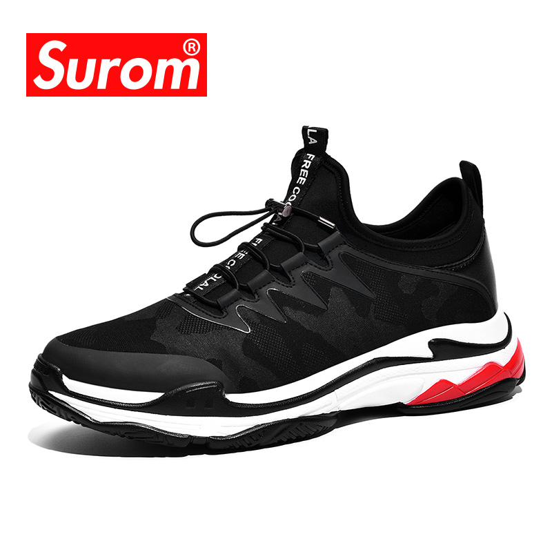 SUROM 2018 Hommes de Mode Casual Chaussures Tendance Mâle Fly armure Respirant Toile Sneakers Hommes de Papa Chaussures Nouveau Triple maladroit sneakers