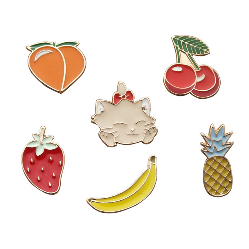 Arts,crafts & Sewing Unicorn Rainbow Cactus Metal Badges On Backpack For Children Kawaii Clothing Anime Icons Pin Badge Enamel Rozet Brooch For Shirt Perfect In Workmanship