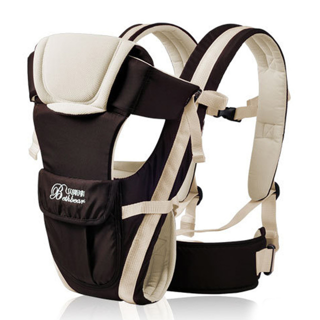 Algodón Canguro Bebé Del Portador de Bebé Infantil Comfort Mochila Abrigo de la Honda Del Anillo Carry Delantero Asiento Hip Nuevo 2015-MKD010 PT50