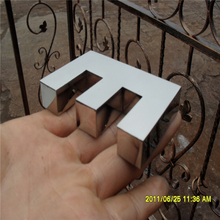 Factoy Outlet Outdoor Brightest resin stainless steel side & back small led letters signs