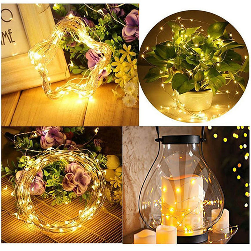 Super 1PC String Fairy Light 100 LED Solar Powered Lighting Lamps Solar String Lights Dr ...