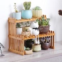 2019 New Plant Shelves Flower Garden Rack Stand Plant Display Stand Bamboo Display Stand Bamboo Shelf Storage Rack Holder