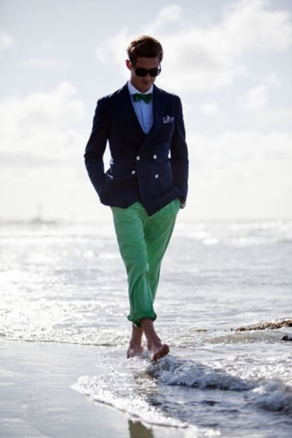 Aliexpress.com : Buy 2016 Summer Navy Blazer Green Pants Men Suits ...