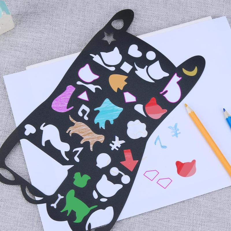 Cute Animal Drawing Template Ruler Kids Painting Tool Stationery For Student Painting Supplies DIY Drawing Craft GiftsCute Animal Drawing Template Ruler Kids Painting Tool Stationery For Student Painting Supplies DIY Drawing Craft Gifts
