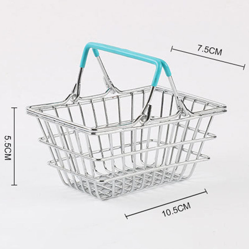 Image 2 - Portable Mini Supermarket Shopping  Basket organizer Shopping Basket Home Debris storage box makeup organizer kids toys-in Storage Baskets from Home & Garden