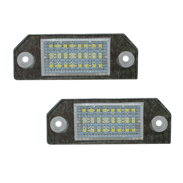 1 Пара 12 В 24 Светодиодов Лампы Лицензия Номерного знака Заднего Света Лампы Для Ford Focus C-MAX 03-07