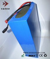 HXX 48V 10AH Battery Pack 18650 Lithium Cell 10S5P Connection For Ebike E Bicycle Self Assembly
