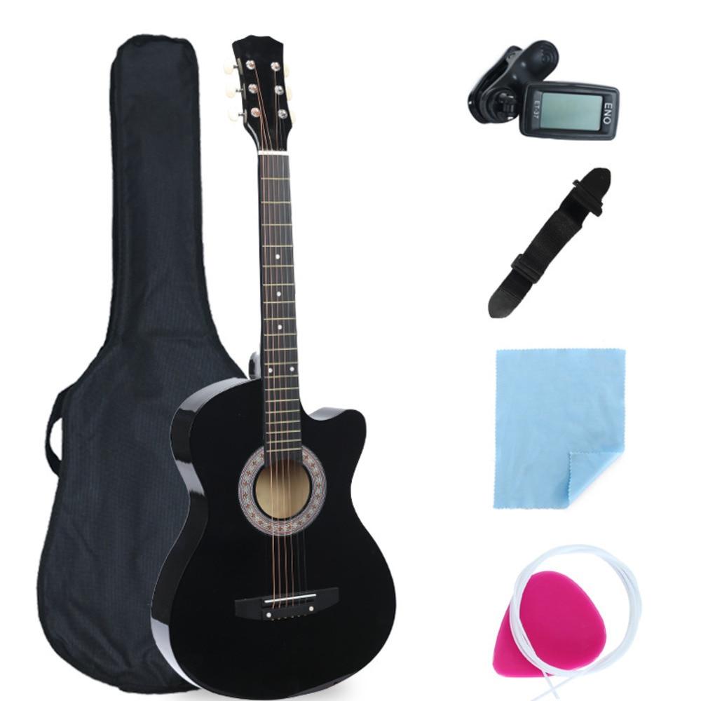 38 pulgadas Guitarra de ángulo ausente Equipo completo Principiante - Escuela y materiales educativos
