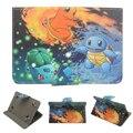 Venta caliente Universal de LA PU Del Soporte Del Cuero Funda Para 7 Pulgadas tableta de Color Puro de la moda amor lindo nuevo diseño de pokemons ir capa