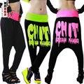 Nova marca Jazz harém mulheres calças hip hop casuais calças dança rabisco chit desgaste desempenho de impressão moletom