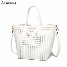 Ankareeda модная открытая Сумочка Дамы композитный мешок Для женщин кожаная сумка через плечо сумка Высокое качество