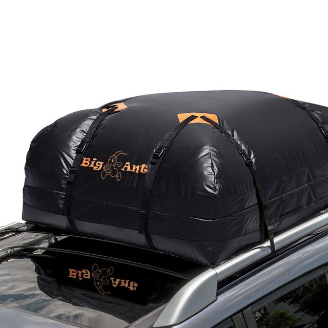 Cargo Bag Waterproof Roof Top Carrier For Cars Vans And Suvs 15 Cubic Feet
