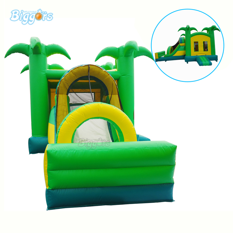 Party Jumper Inflatable Fun Bounce House Bouncy House Slide Combo With Blowers