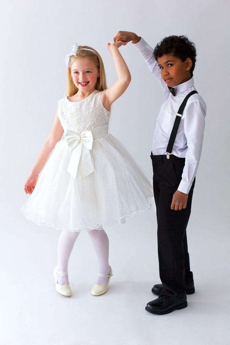 ФОТО Sleeveless Flower Girl Dress Lace Holy Communion Dresses A-Line Cupcake Pageant Dress Knee-Length Girls Summer Dress