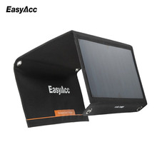 EasyAcc 28W Solar charger, 4-Port with SunPower Solar Panel high efficient for iPhone, SE, 6s, 6 Plus,Galaxy S7/S7 Xiaomi