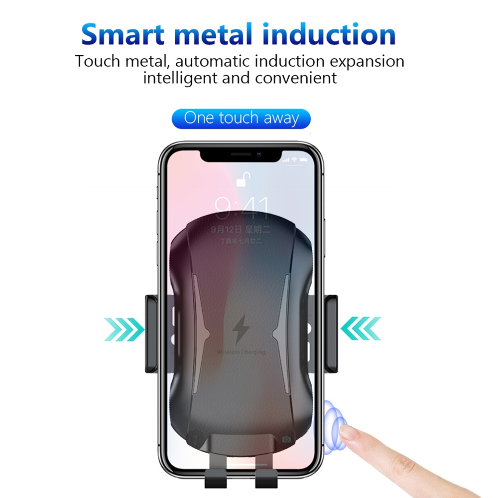 FDGAO 10W Qi Car Wireless Charger For iPhone X 8 XR XS MAX Automatic Phone Holder Fast Charging Air Vent Stand for Samsung S8 S9 in Mobile Phone Chargers from Cellphones Telecommunications