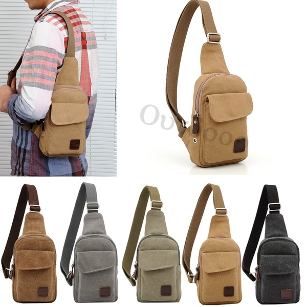 Aliexpress.com : Buy Men's Small Canvas Military Messenger ...