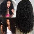 8А Kinky Вьющиеся Полный Шнурок Человеческих Волос Парики Для Чернокожих Женщин 130% Плотность Glueless Фронта Шнурка Человеческих Волос Парики Бразильские Волосы Парики