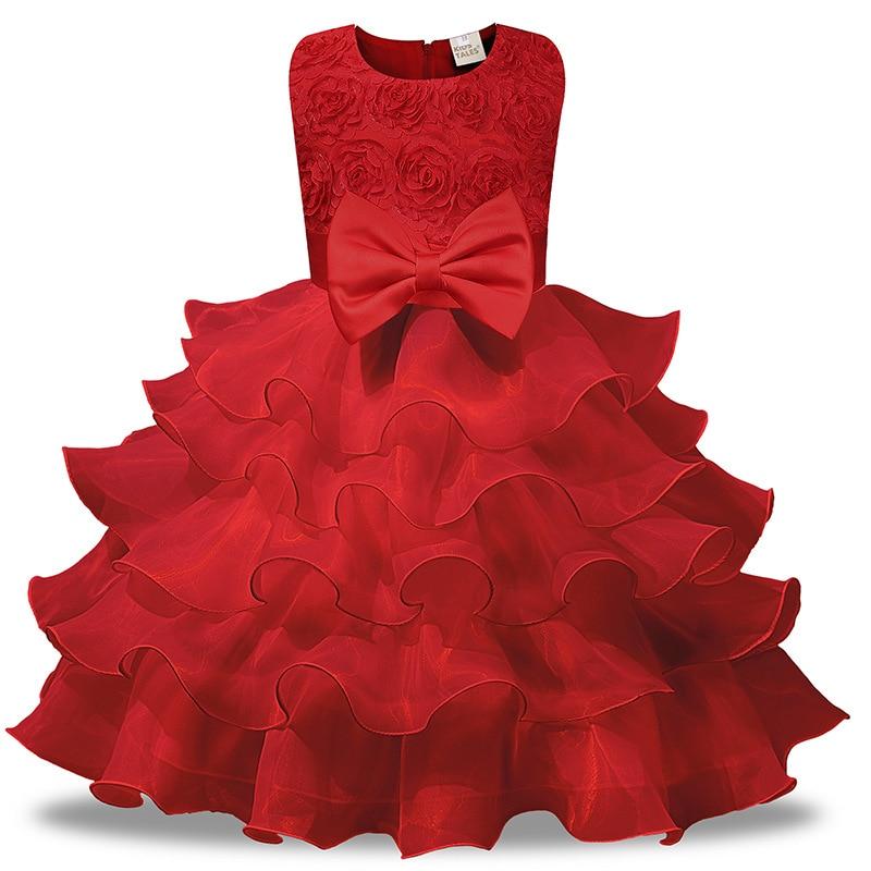 Blueredpink Baby Baptism Princess Dress Girl Wedding Dress for Girls Clothes Summer 2018 Children's Birthday Party Girl Dress