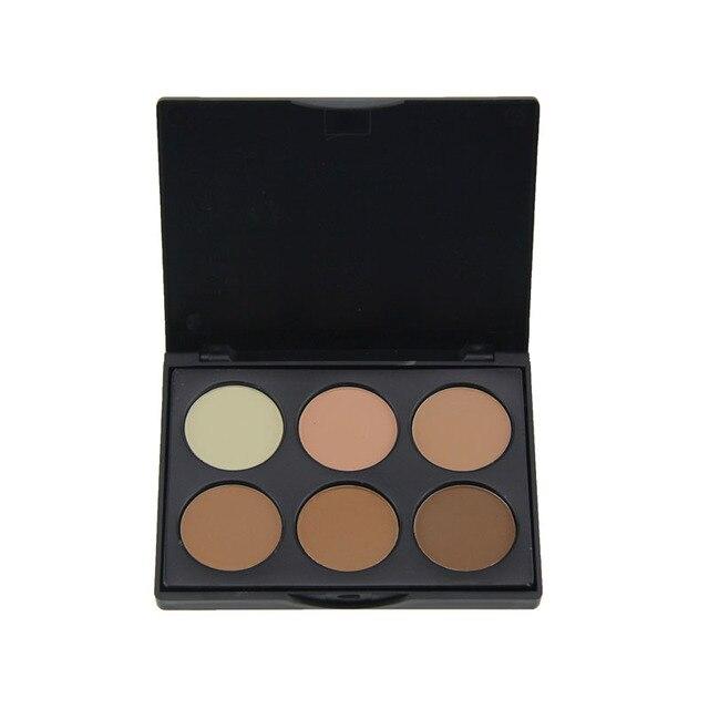 6 colors contour pressed face concealer highlighting bronzing powder