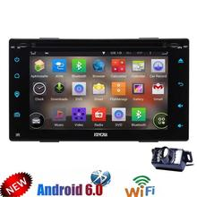 Android 6.0 Car DVD gps Stereo Double Din car 2din GPS Navigation Vehicle Radio Headunit Support WiFi OBD2 Mirrorlink SWC+Camera