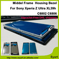 10pcs/lot free shipping White&Black Wholesale For Sony Xperia Z Ultra XL39h XL39 C6806 C6843 C6833 Middle Frame Bezel Housing