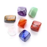 7 Чакра Рейки Исцеление сердце радуга семь цветов чакра натуральный камень Yoga энергия камня