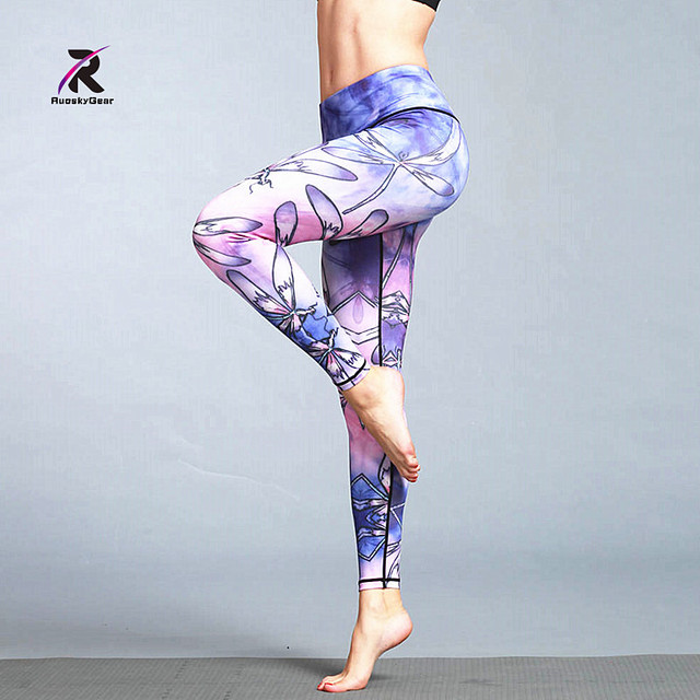 c4b0418248550 New Sex High Waist Stretched Sports Pants Gym Clothes Spandex Running  Tights Women Sports Leggings Fitness Yoga Pants