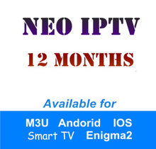 Neotv Iptv French Arabic UK German subscription Live TV VOD Movies channel Europe Iptv Neotv pro Smart TV M3U Android 6/12 Month(China)