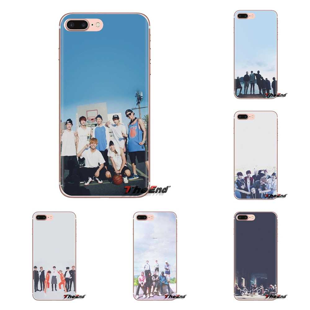 Silicone Phone Case Covers For Xiaomi Redmi 4A S2 Note 3 3S 4 4X 5 Plus 6 7 6A Pro Pocophone F1 Bangtan Boys Korean Team Pattern