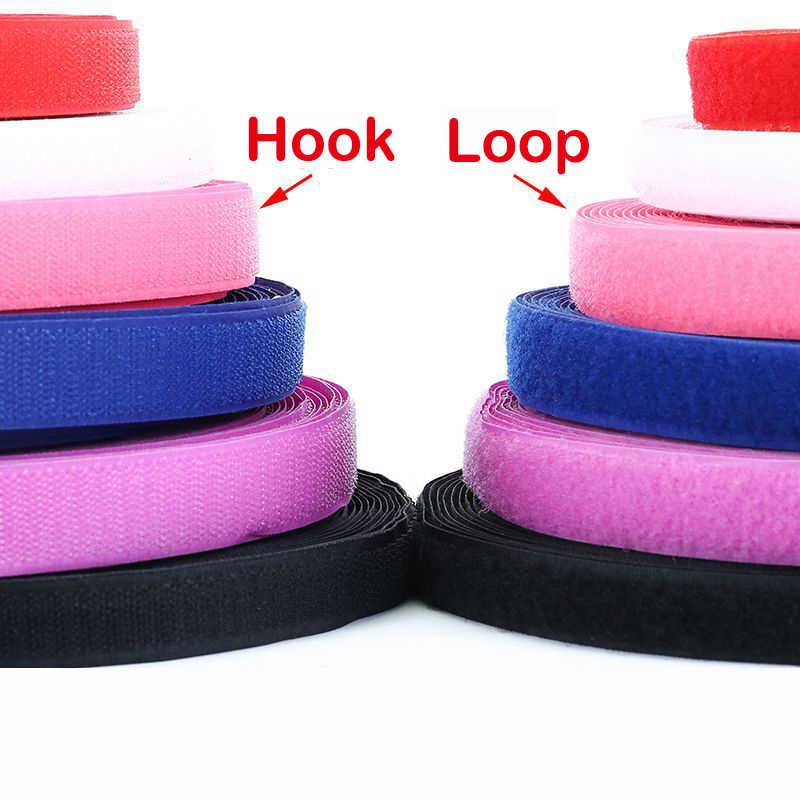 2 Mét Cặp 20 Mm Nhiều Màu Sắc Móc Và Vòng Băng Buộc Không Dán Móc Velcros May-Trên Ma Thuật dây Dính Chắc Thủ Công DIY Tiếp Liệu