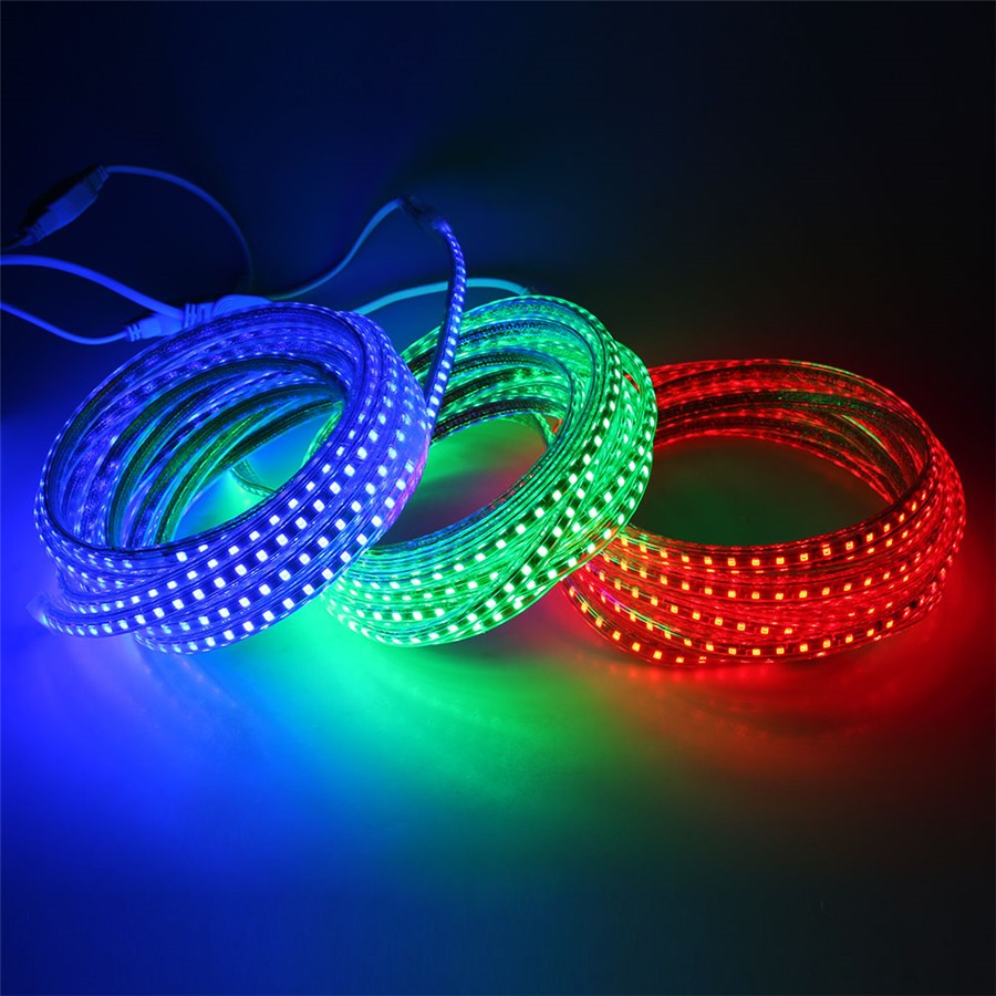 Купить с кэшбэком AC 220V led strip light 2835 waterproof IP67 IP68 led tape with power plug led rope ribbon warm white blue red green yellow