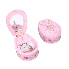 Cute Bear Dancing Ballerina Music Box PLastic Jewellery Box