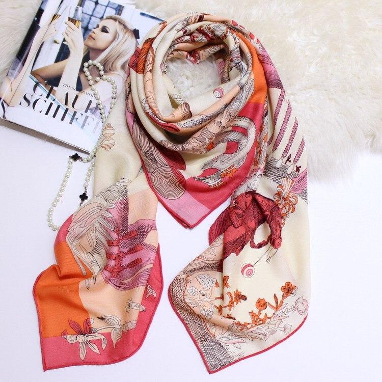 Animaux Écharpe Hiver Pur Cachemire Foulards Femmes Épais Chaud Doux Chevrons De Luxe Brand Design Grand Châles Wrap 140*140 cm