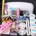 New 9W UV Dryer Lamp Block Sanding False Nail Art Tips Gel Tools DIY Salon Kit  Professional Gel Nails Set Manicure Set 34208