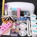 Nova 9 W UV Secador de Lâmpada Bloco Lixar Unhas Falsas Dicas de Arte gel ferramentas diy salon kit profissional unhas de gel set manicure set 34208