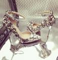 2017 sapatos mulher sapatos de casamento bombas dos saltos altos flores floral cross dressing strass stiletto sapatos senhoras pontas do dedo do pé
