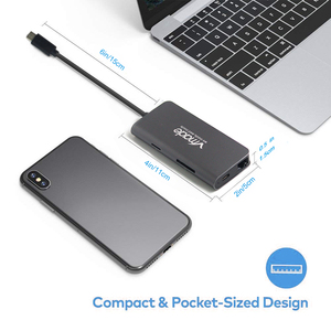Image 5 - 8 in 1 USB Hubs thunderbolt 3 port USB 3.0 SD and TF slots Super Speed Compact Hub Adapter For PC Laptop MacBook 4K HDMI Typle C