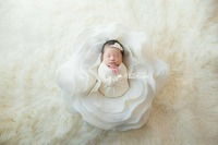 new process wool blanket stereoscopic flower newborn photography props flokati flower shaped posing basket background baby photo