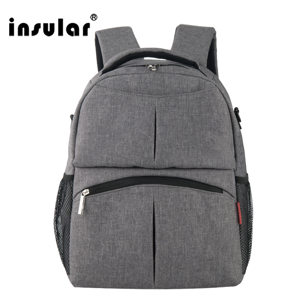 ФОТО Insular New Large Capacity Multifunctional Mummy Backpack Nappy Bag Baby Diaper Bags Mommy Maternity Bag Babies Care Product