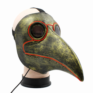 Image 4 - Retro Steampunk Plague Bird Doctor Cosplay Mask Latex LED Funny Event Holiday Halloween Party Costume Props