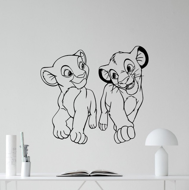 Free Shipping Lion King Wall Decal Cartoons Vinyl Sticker Simba Nursery Decor Kids Baby Room