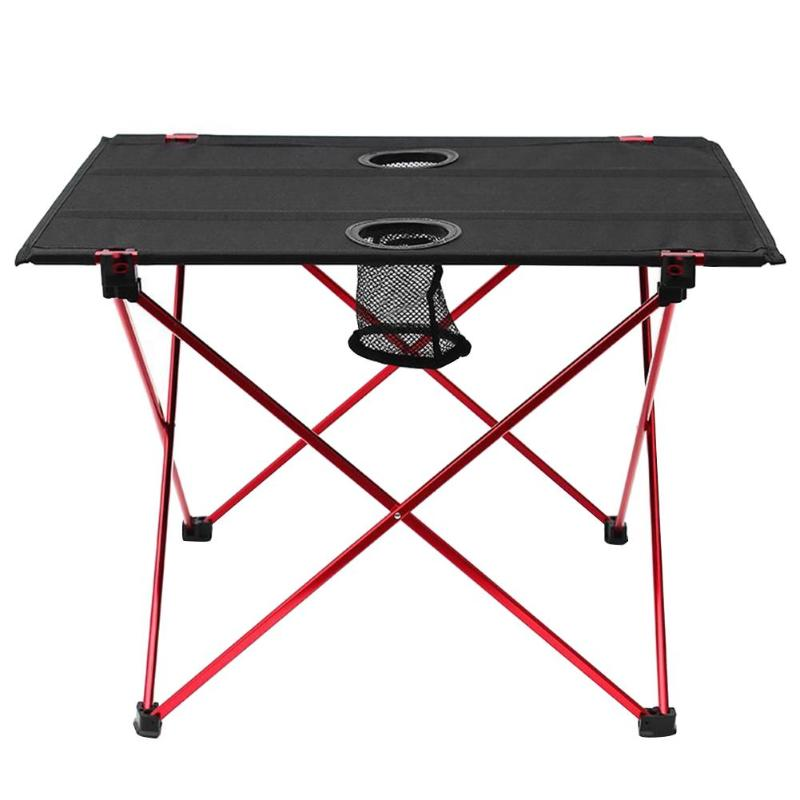Portable Lightweight Outdoors Table For Camping Aluminium Alloy Picnic BBQ Folding Table Outdoor Tavel Portable Tables alluminum alloy magic folding table bronze color magic tricks illusions stage mentalism necessity for magician accessories