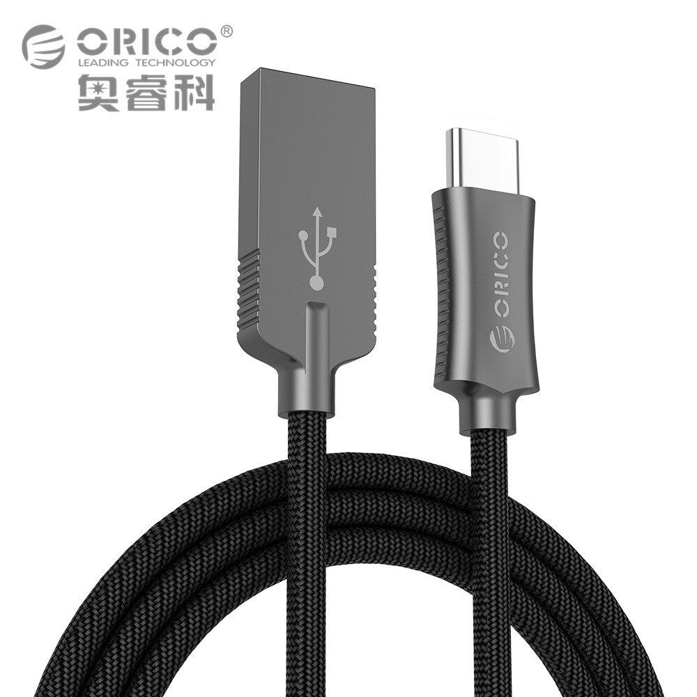 ORICO USB Type A à USB-C Câble USB Sync & Charge Cordon pour Huawei P9 Macbook LG G5 Xiaomi Mi 5 HTC 10 Plus de Zinc Alliage 1 Mètre