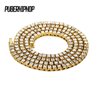 JFY 5MM Women S Gold Black Silver 1 Row Clear CZ Iced Out Simulated Diamond 30