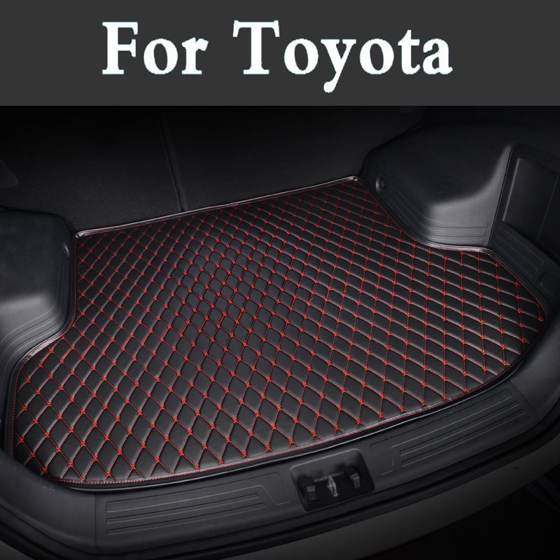 Auto Car Styling Full Set Car Trunk Mats Waterproof Boot Carpets Cargo Liner Mat For Toyota Landcruiser Zelas Sequoia