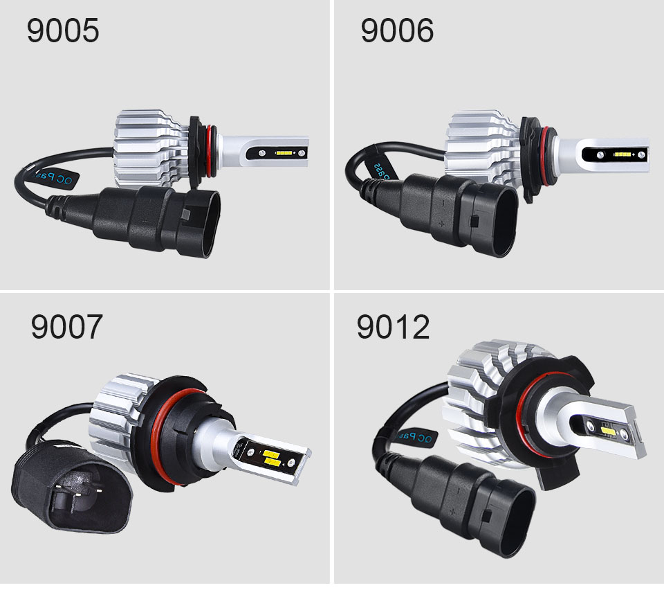 Foxcnsun LED H4 Car Bulbs 6500K Auto H7 LED Headlight Fan-less Head Lamp SUV 50W CSP Chips H11 9005 9006 led H3 H1 Bulbs H15 H8 (15)