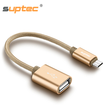 SUPTEC Micro USB Female OTG Cable Adapter for Samsung S6 S7 Xiaomi Huawei Lenovo Sony Camera Tablet Converter to Phone Data Sync usb female to micro usb otg adapter cable for samsung sony xiaomi blue 15 cm