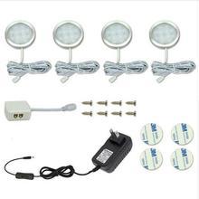 4PCS LED Under Cabinet Light Puck Llight