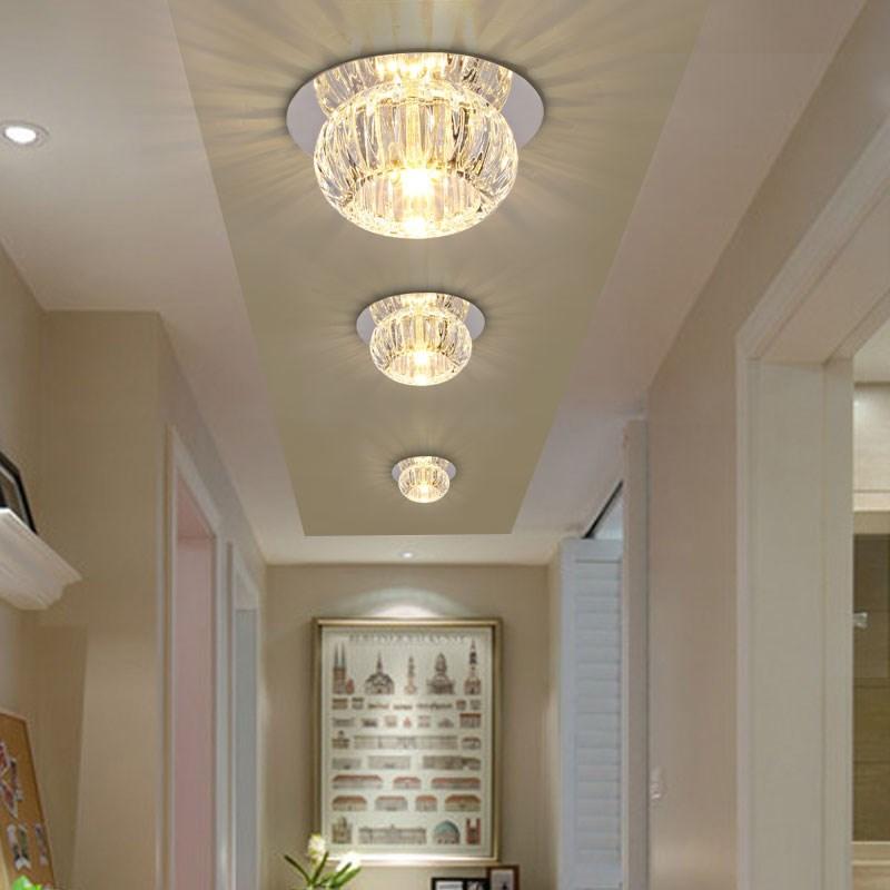 Verrassend LED kristallen lamp 3W plafond gangen lamp veranda lamp plafond OW-79